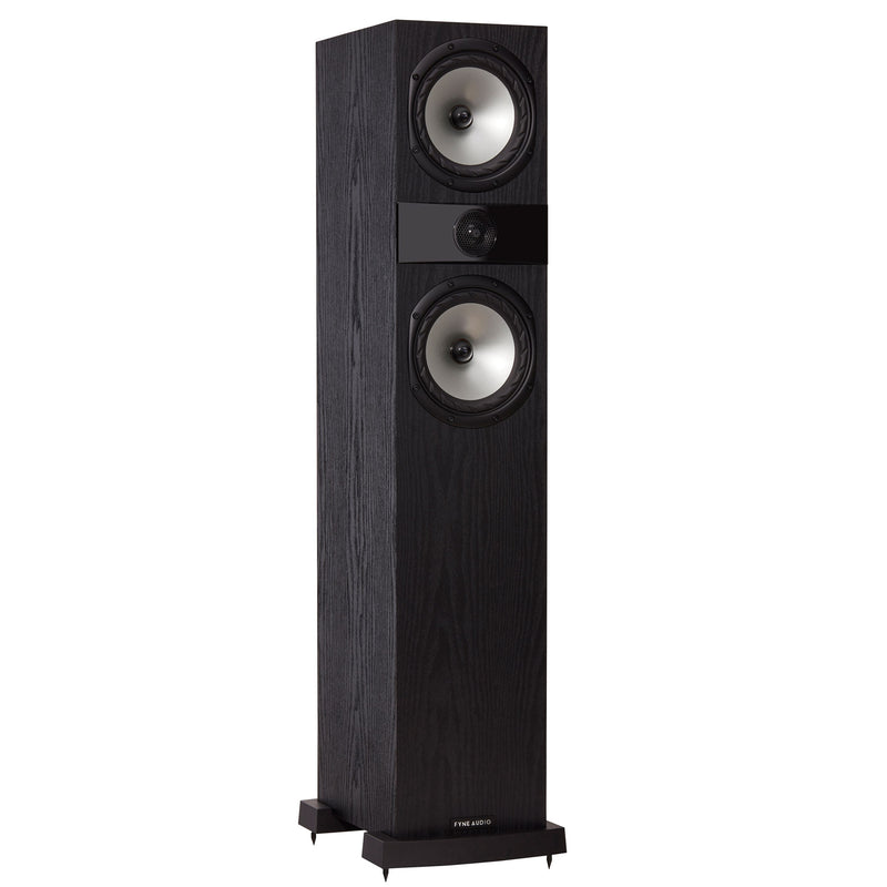 Fyne Audio F303 Floorstanding Speakers black ash side