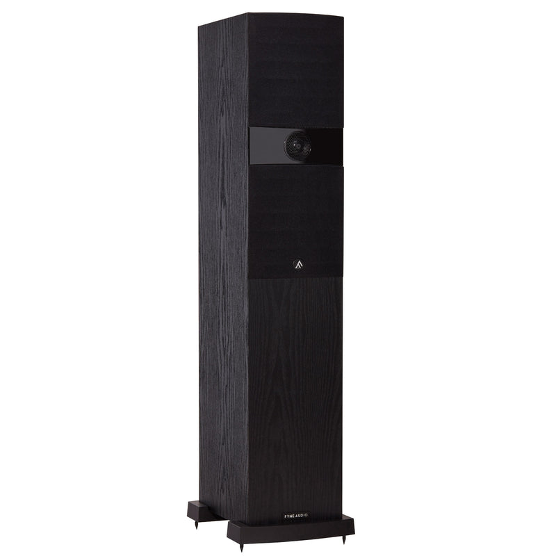 Fyne Audio F303 Floorstanding Speakers black ash with grille