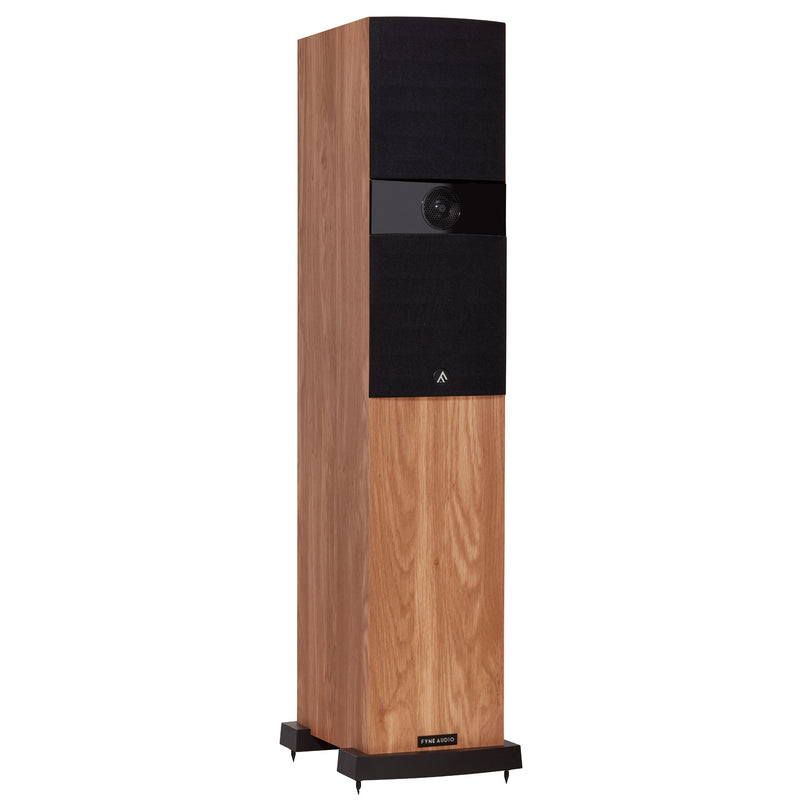 Fyne Audio F303 Floorstanding Speakers light oak with grille