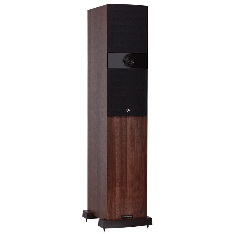 Fyne Audio F303 Floorstanding Speakers walnut with grille