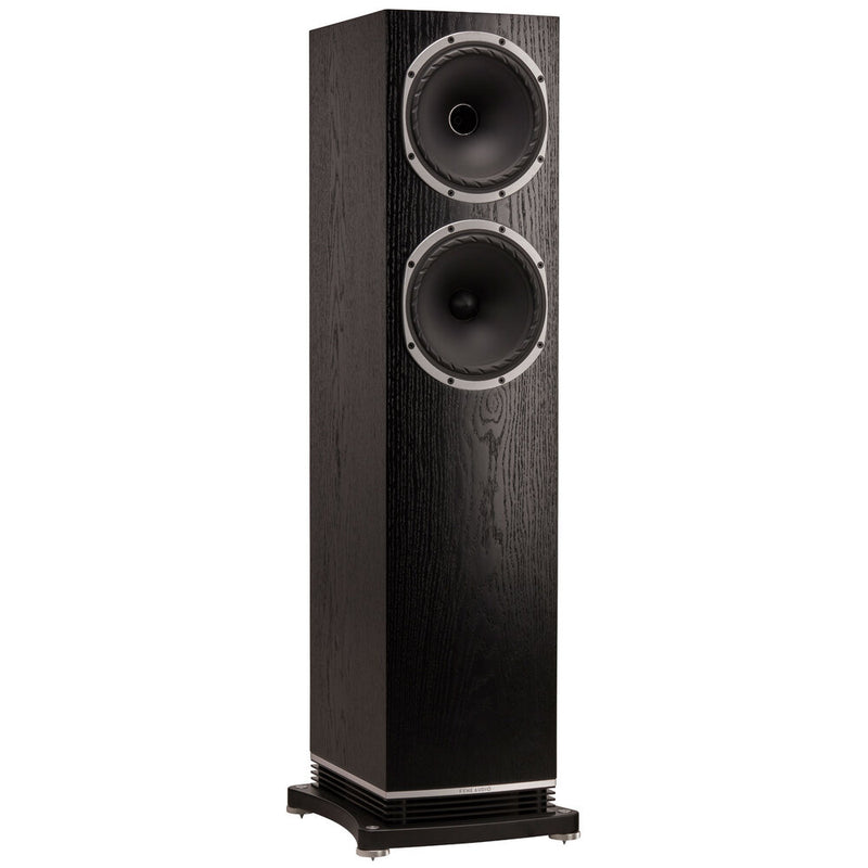 Fyne Audio F502 Floorstanding Speakers black oak side