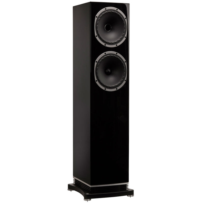 Fyne Audio F502 Floorstanding Speakers piano gloss black side