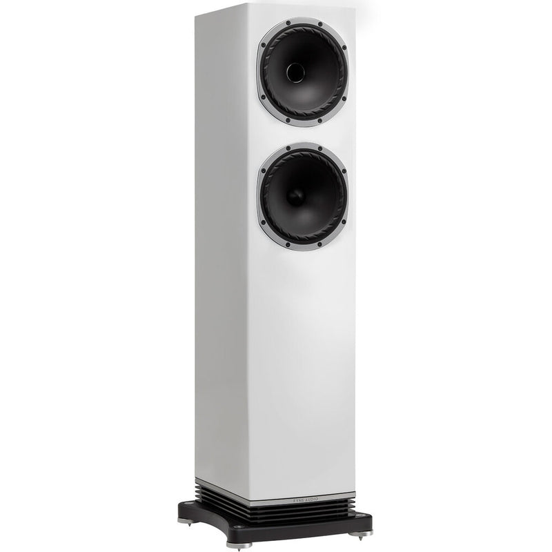 Fyne Audio F502 Floorstanding Speakers piano gloss white side
