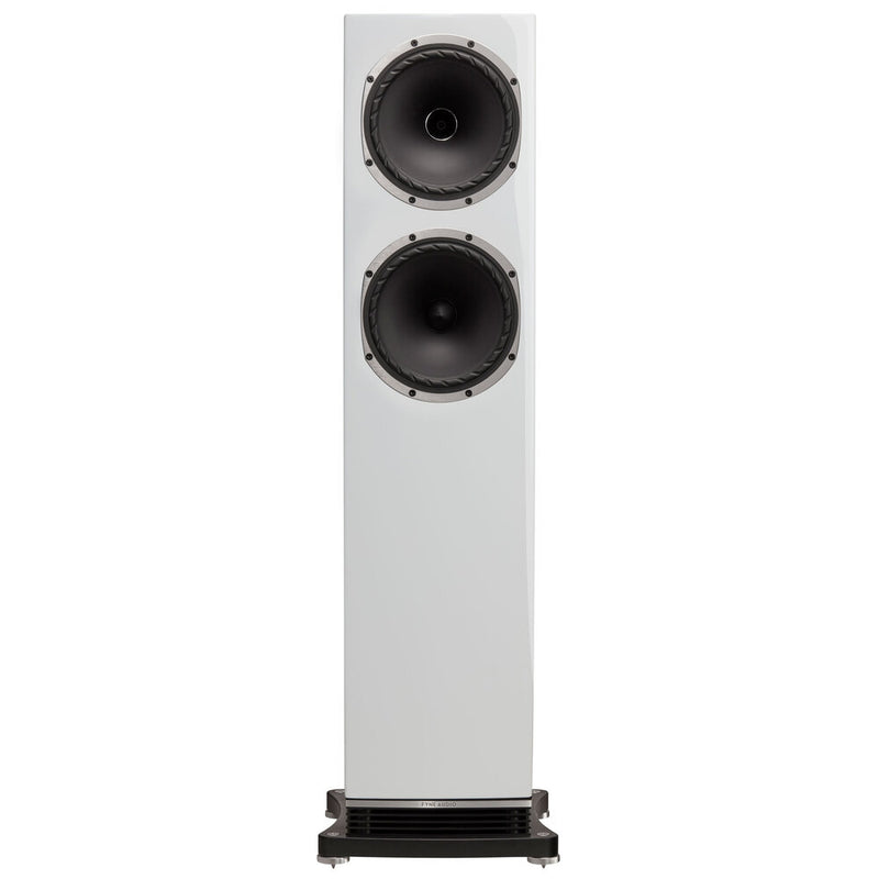 Fyne Audio F502 Floorstanding Speakers piano gloss white