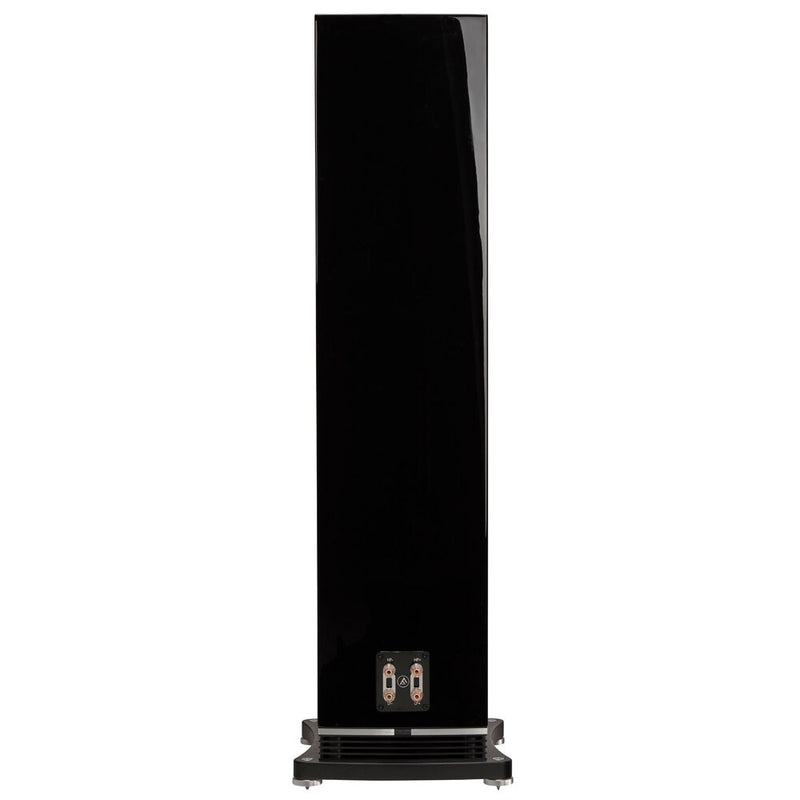 Fyne Audio F502 Floorstanding Speakers piano gloss black rear