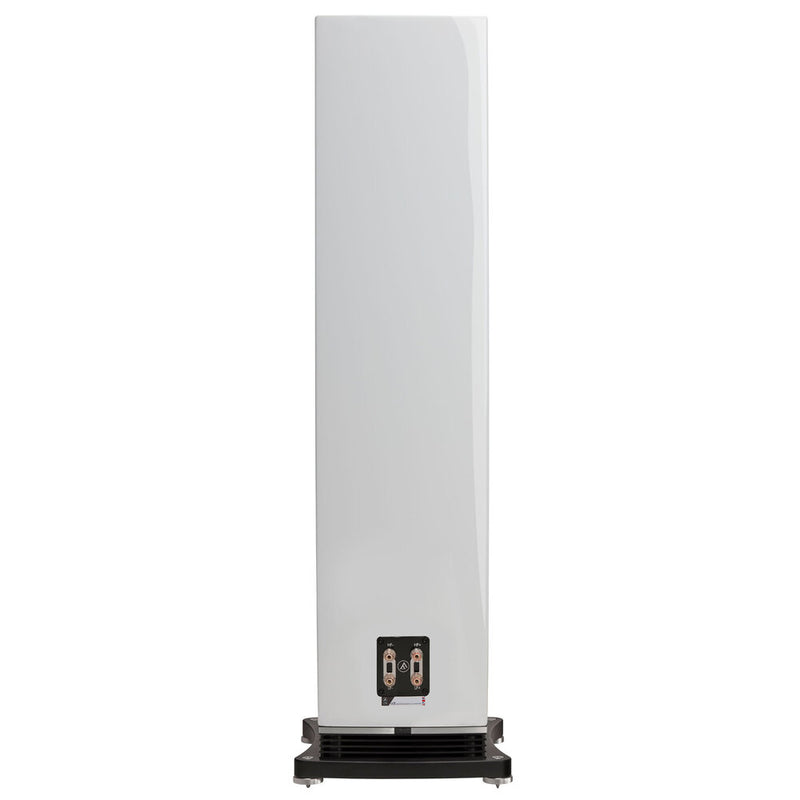 Fyne Audio F502 Floorstanding Speakers piano gloss white rear