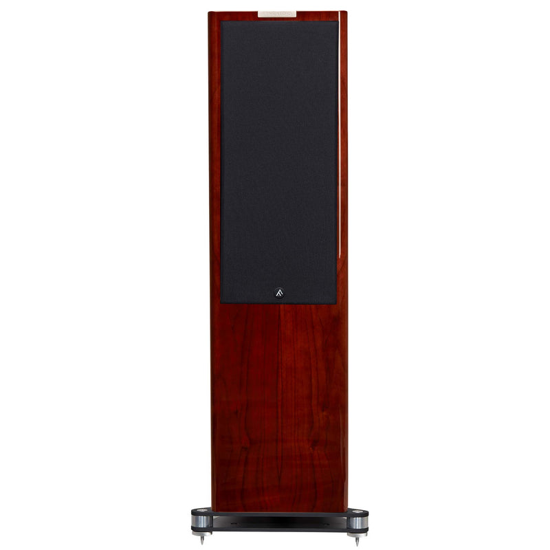 Fyne Audio F702 Floorstanding Speakers (pair) piano gloss walnut with grille