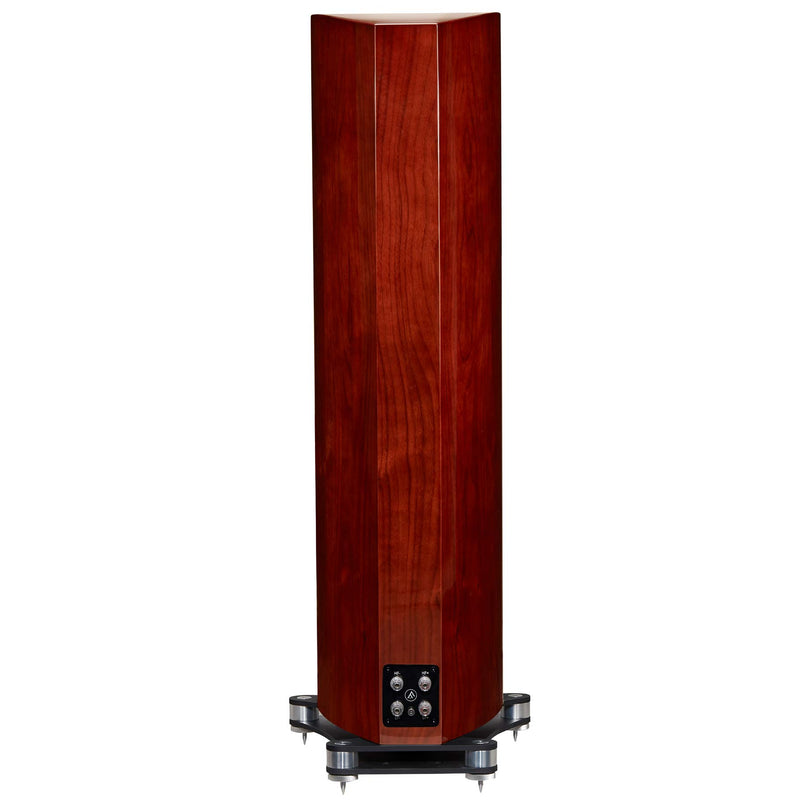Fyne Audio F702 Floorstanding Speakers (pair) piano gloss walnut rear