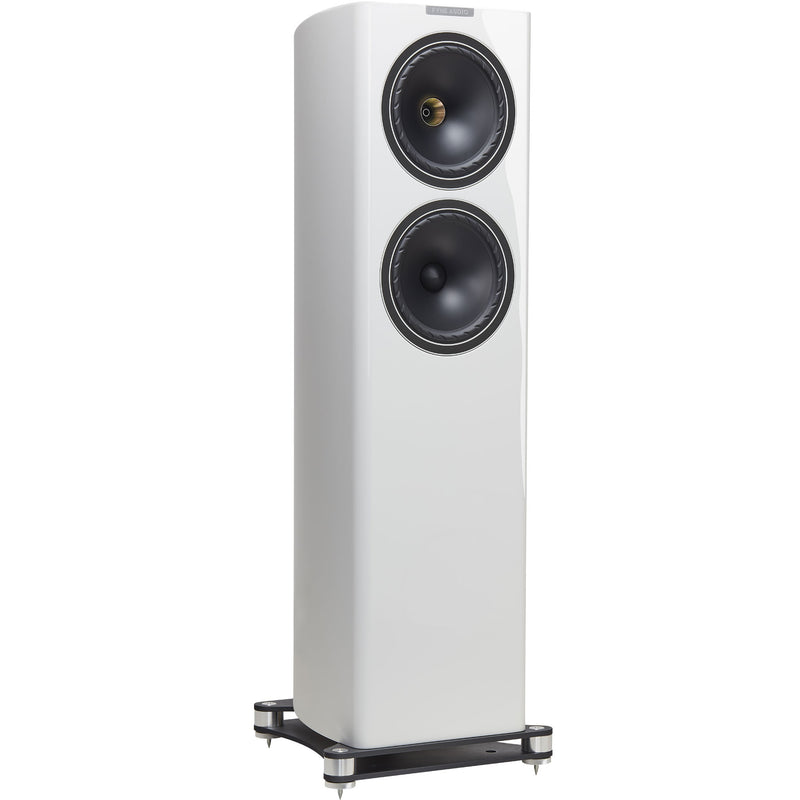 Fyne Audio F702 Floorstanding Speakers (pair) piano gloss white side