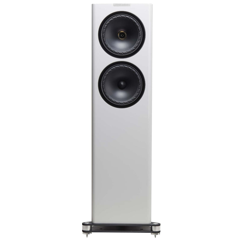 Fyne Audio F702 Floorstanding Speakers (pair) piano gloss white
