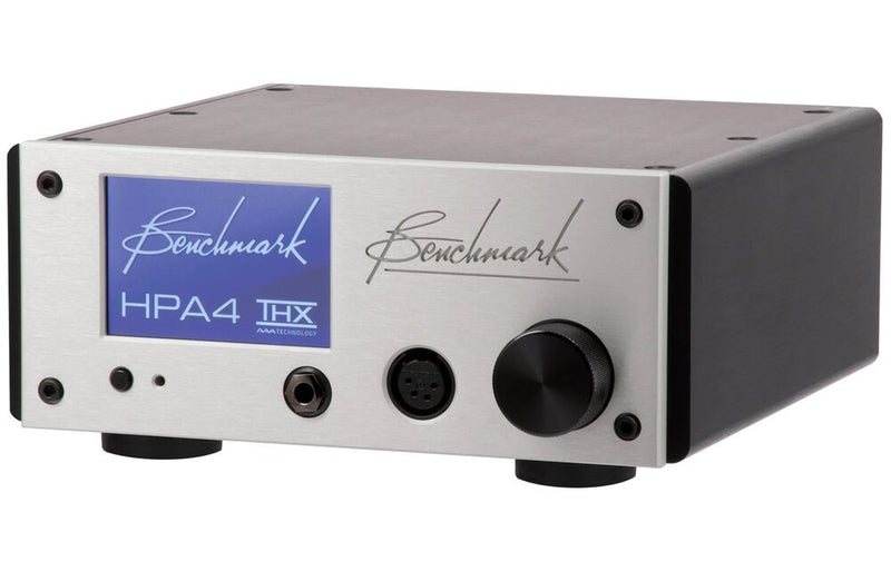 Silver Benchmark HPA4 Headphone / Line Amplifier angle view