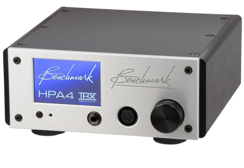 Silver Benchmark HPA4 Headphone / Line Amplifier top view