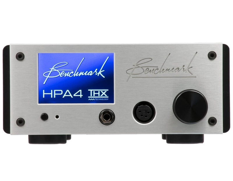 Silver Benchmark HPA4 Headphone / Line Amplifier front view