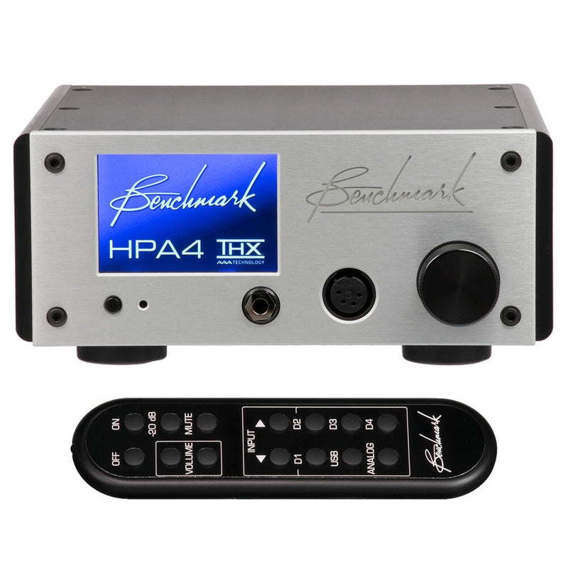 Silver Benchmark HPA4 Headphone / Line Amplifier with remote