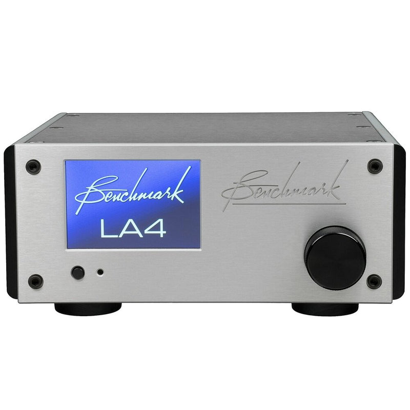 Silver Benchmark LA4 Line Amplifier front view