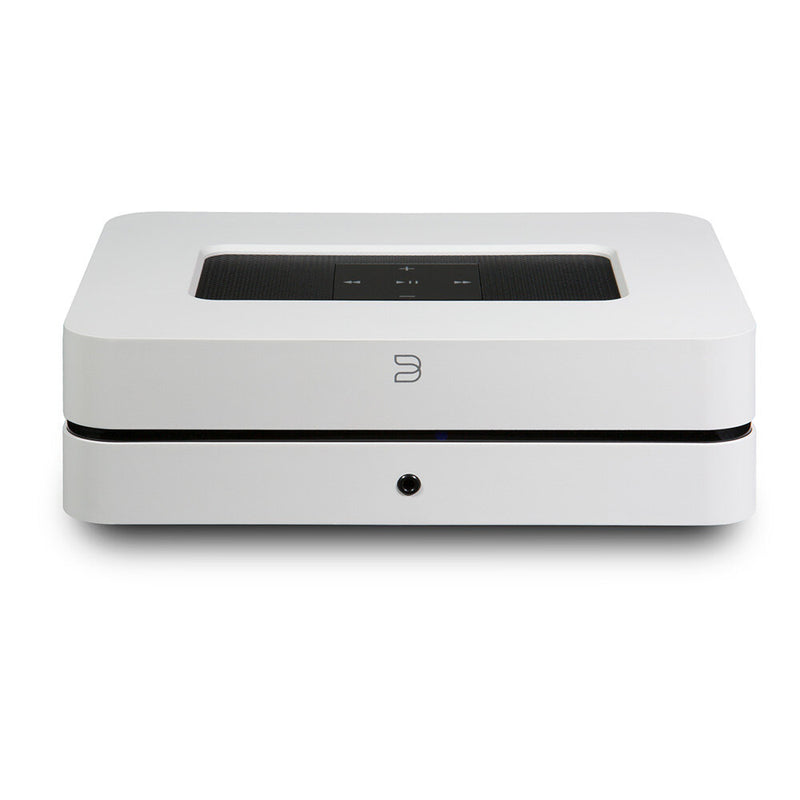 Bluesound POWERNODE 2i Amplifier / wireless streaming music player white front top view