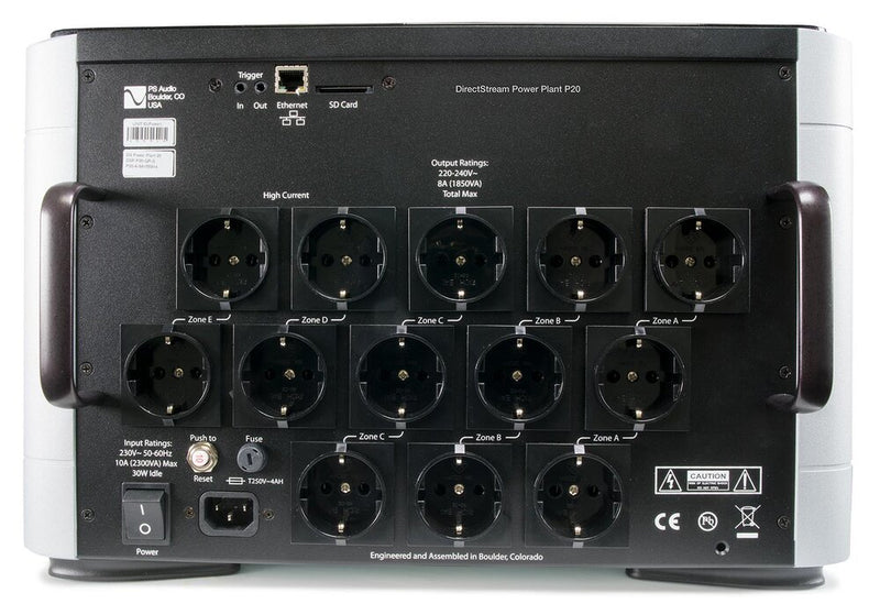 PS Audio DirectStream Power Plant P20 back panel