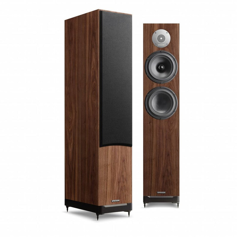 Spendor D7.2 Floorstander Speakers dark walnut