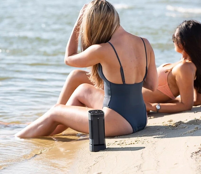 Soundcast VG3 Waterproof Portable Bluetooth Speaker by the beach