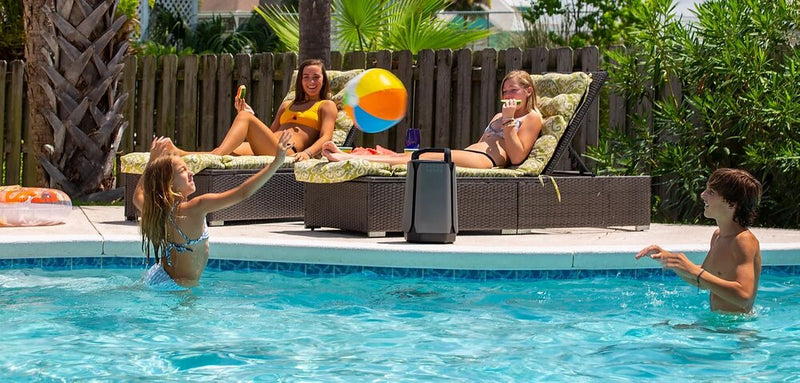 Soundcast VG7 Premium Waterproof Portable Bluetooth Speaker by the pool