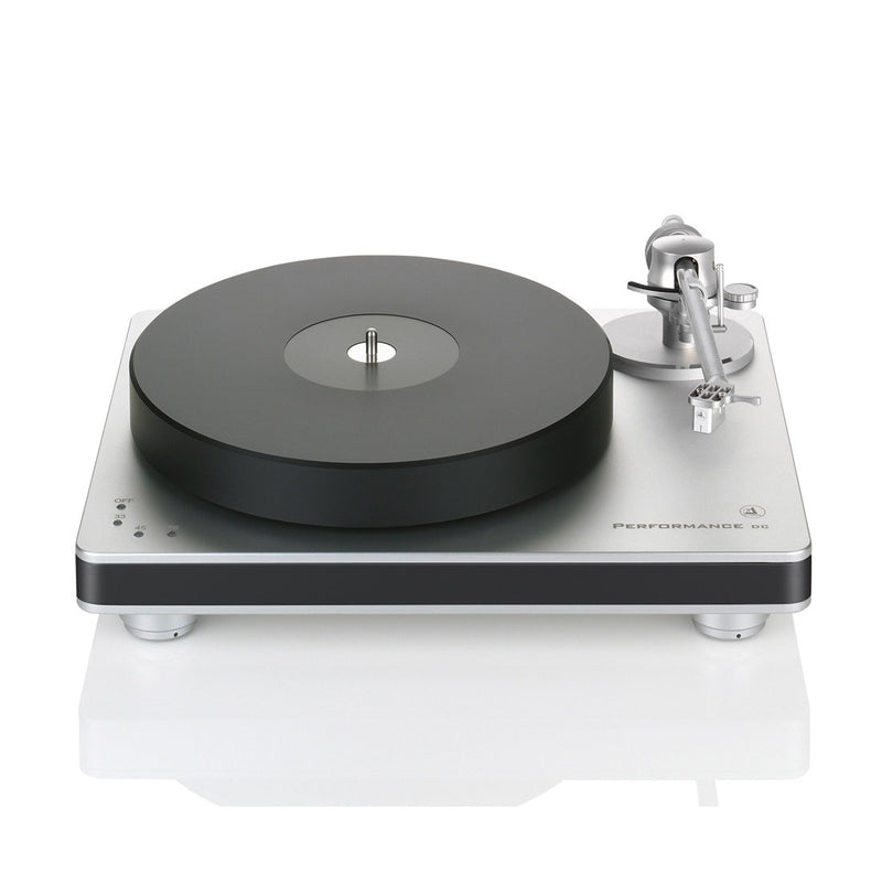 Clearaudio Performance DC with Radial Armboard Turntable (silver base, black trim)