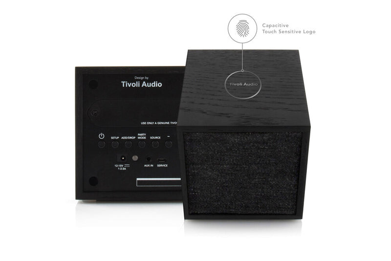 Tivoli Cube Wireless Speaker black capacitive touch control