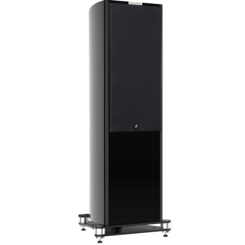 Fyne Audio F703 Floorstanding Speakers (pair) piano gloss black with grille