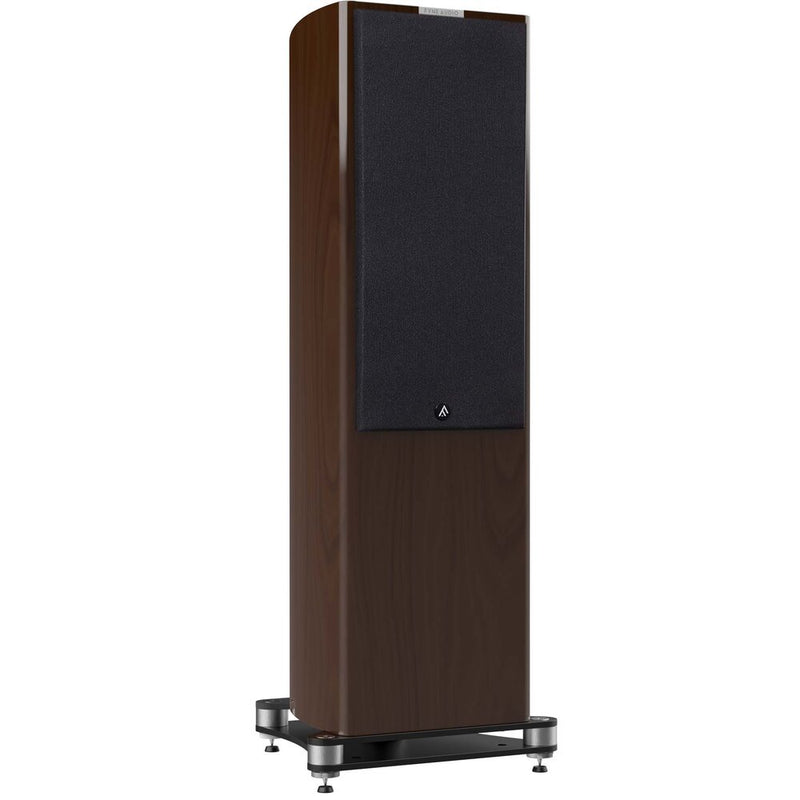 Fyne Audio F703 Floorstanding Speakers (pair) piano gloss walnut with grille