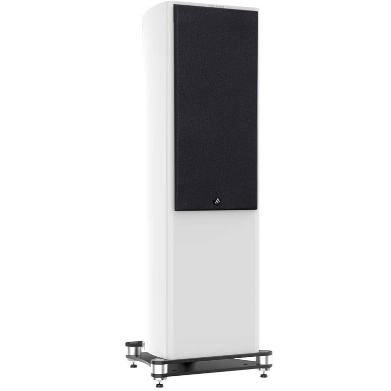Fyne Audio F703 Floorstanding Speakers (pair) piano gloss white with grille
