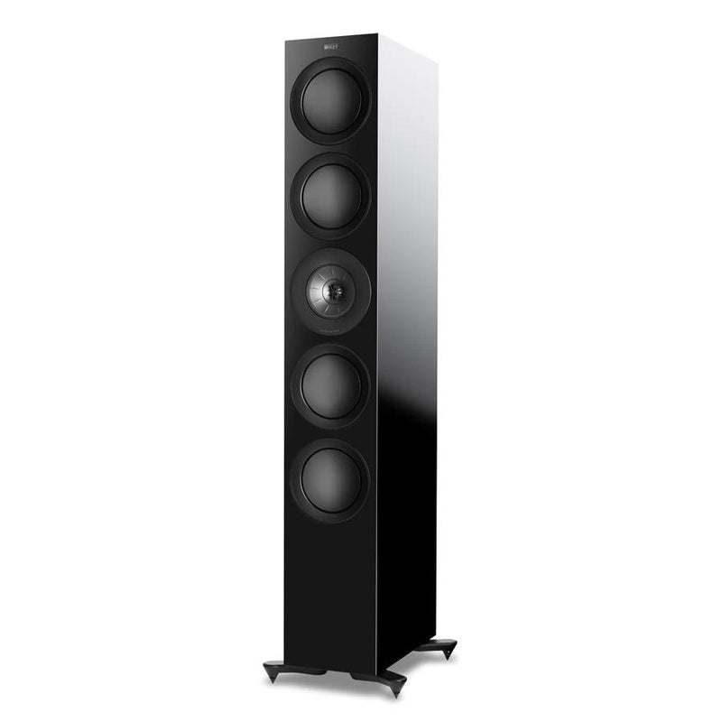 Black KEF R11 Flagship Three-way Floorstander