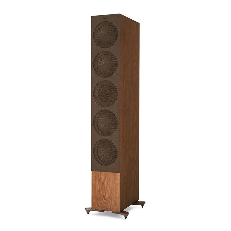Walnut KEF R11 Flagship Three-way Floorstander with cover