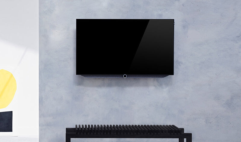 "Loewe bild 7 55"" OLED TV (includes wall bracket) mounted"