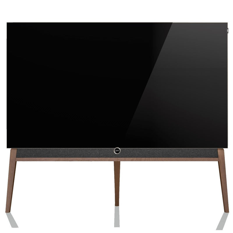 "Loewe bild 5 55"" OLED TV with Silver Oak Floor Stand"