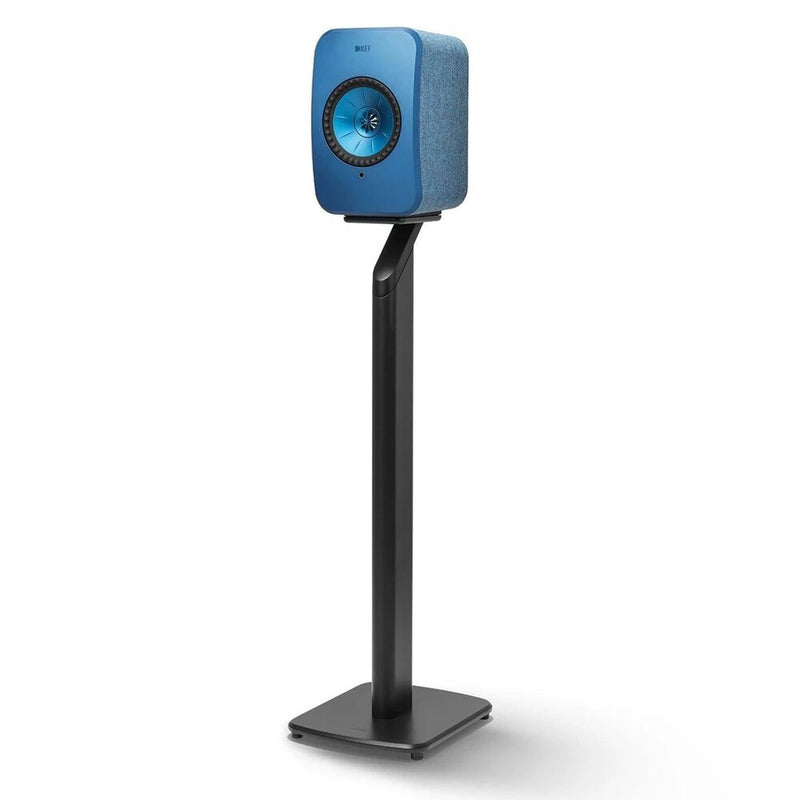 KEF S1 Floor Stand for LSX Black with Blue Speaker