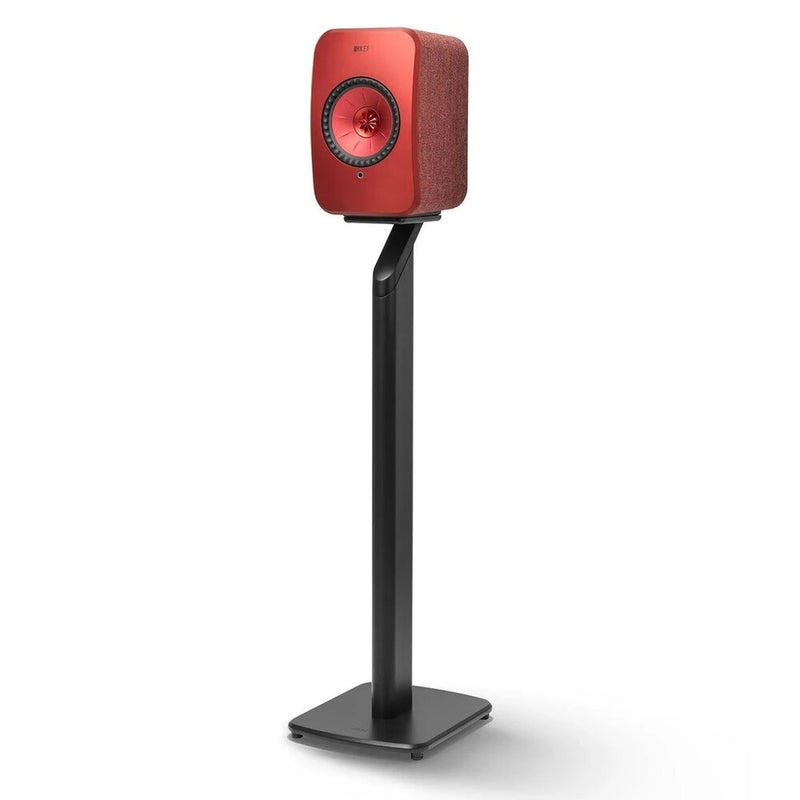 KEF S1 Floor Stand for LSX Black with Red LSX Speaker