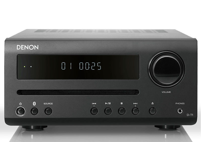 Denon D-T1 Hi-Fi Mini System with CD and Bluetooth front