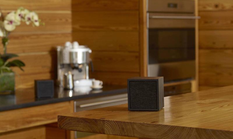 Tivoli Cube Wireless Speaker on thick slab table