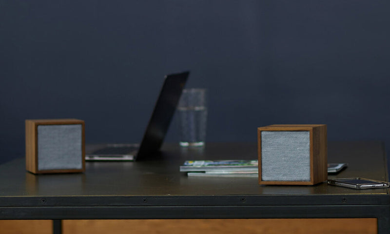 Tivoli Cube Wireless Speaker on work table