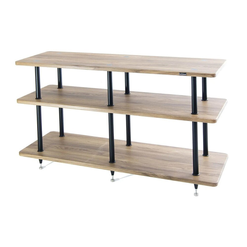 Solidsteel VL-3 Vinyl Library Rack 3-Shelf Walnut