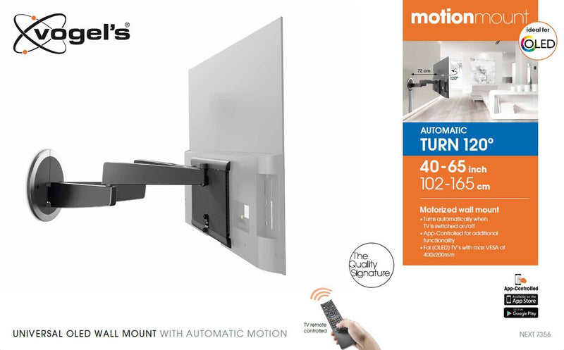 Vogel's MotionMount (NEXT 7356) Full-Motion Motorised TV Wall Mount ideal for OLED TVs