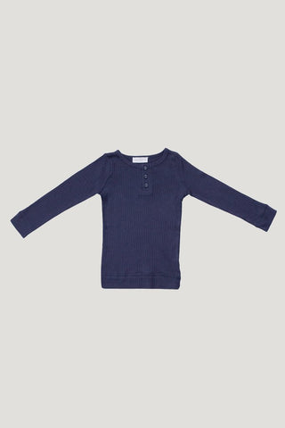 Jamie Kay Cotton Henley - Navy