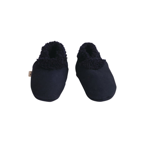 Nature Baby Toddler Lambskin Slippers Navy