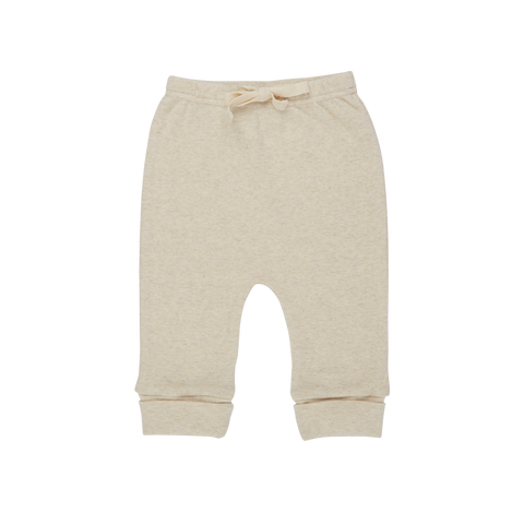 Nature Baby Cotton Drawstring Pants Oatmeal Marl