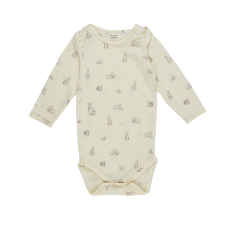 Nature Baby Merino Bodysuit Burrowers Print