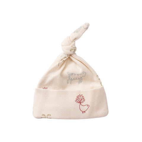 Nature Baby Cotton Knotted Beanie Nature Baby Print
