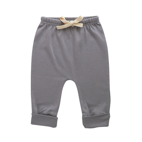 Nature Baby Cotton Drawstring Pants Grey