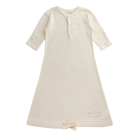 Nature Baby Cotton Gown Pointelle