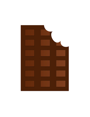 Pickle Jar Design Chocolate Squares