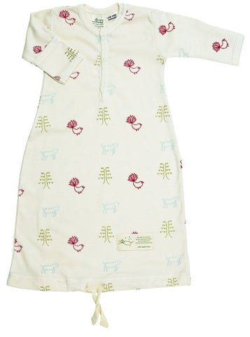 Nature Baby Cotton Gown Nature Baby Print