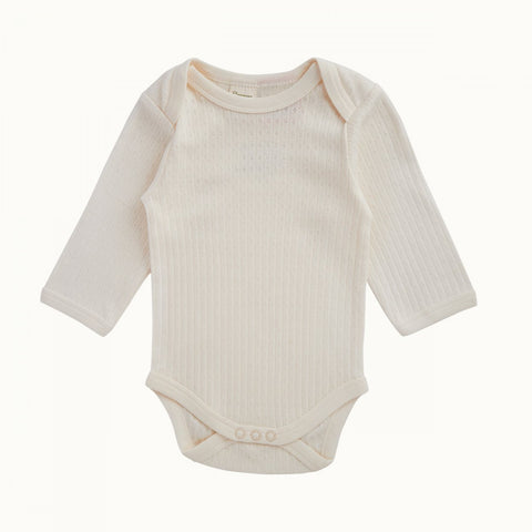 Nature Baby Cotton L/S Pointelle Bodysuit
